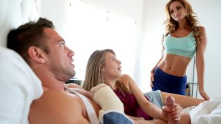 Mature mom arranges her daughter's education on her boyfriend: doggystyle, blowjob and best UK sex