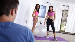 Threesome after fitness workout on porn movies from Milf UK
